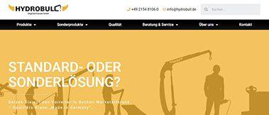 Hydrobull neue Website in 2020